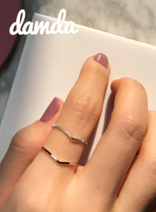 66GIRLSSlim V-Shaped Ring Set