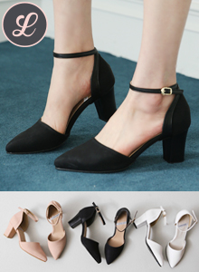 66GIRLSBuckled Ankle Strap D'Orsay Pumps