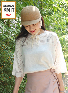 66GIRLSLoose Knit Zigzag Hem Sweater
