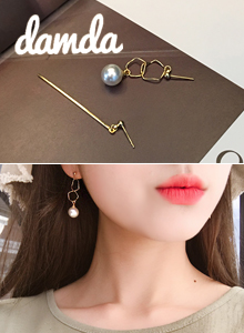 66GIRLSMismatched Gold-Tone Drop Earrings