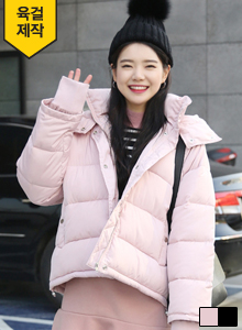 66GIRLSHooded Turtleneck Padded Jacket