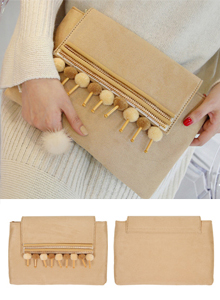 66GIRLSEthnic-Themed Rectangular Clutch