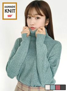 66GIRLSMelange Turtleneck Sweater