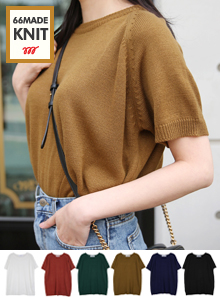 66GIRLSShort-Sleeved Knit T-Shirt