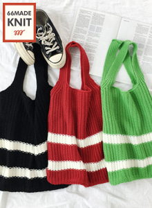 66GIRLSStriped Knit Bag