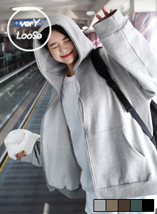 66GIRLSLoose Fit Zip-Up Hoodie
